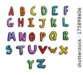 cartoon alphabet | Shutterstock . vector #175898606