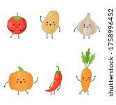 Set Of Cute Kawaii Vegetables....