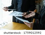 young business team working in... | Shutterstock . vector #1759012592