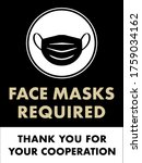 face masks required sign  ... | Shutterstock .eps vector #1759034162