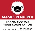 Masks Required Sign For...