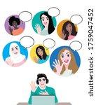 women of various nationalities...   Shutterstock .eps vector #1759047452