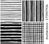 hand drawn seamless vector set | Shutterstock .eps vector #175907936