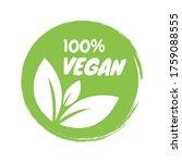 vegan icon set. organic logos... | Shutterstock .eps vector #1759088555