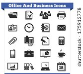 vector set of office and... | Shutterstock .eps vector #175912778