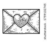 Illustration Of Love Letter In...