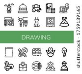 Set Of Drawing Icons. Such As...