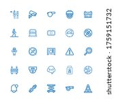 editable 25 attention icons for ... | Shutterstock .eps vector #1759151732