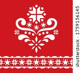 scandinavian christmas folk art ... | Shutterstock .eps vector #1759156145