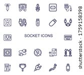 editable 22 socket icons for... | Shutterstock .eps vector #1759158398