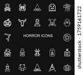 Editable 22 Horror Icons For...