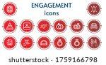 editable 14 engagement icons...   Shutterstock .eps vector #1759166798