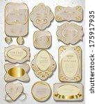 retro vintage set of white gold ... | Shutterstock .eps vector #175917935