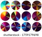 round metallic gradient label...