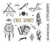 Free Spirit Boho Vector...