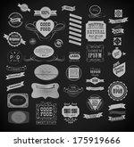 set of vintage retro labels | Shutterstock .eps vector #175919666