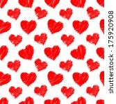 seamless hearts pattern. hand...   Shutterstock .eps vector #175920908