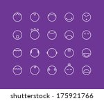 round smilies emotion icons | Shutterstock .eps vector #175921766