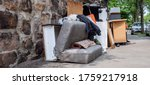 Small photo of Panoramic bulky waste collection Household breakdown on the street