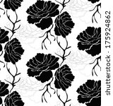 seamless pattern with roses.... | Shutterstock .eps vector #175924862