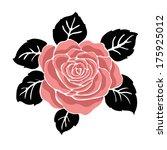 rose motif beautiful rose... | Shutterstock .eps vector #175925012