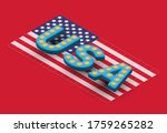 3d 'usa' font on isometric usa... | Shutterstock .eps vector #1759265282