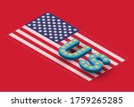 3d 'us' font on isometric usa... | Shutterstock .eps vector #1759265285