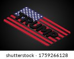 black 'trump' text 3d isometric ... | Shutterstock .eps vector #1759266128