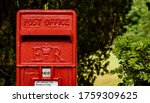 Old Square Style Red Post Box...