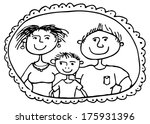 vector  family picture with... | Shutterstock .eps vector #175931396