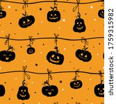 fun hand drawn halloween... | Shutterstock .eps vector #1759315982