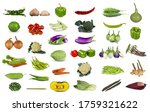 collection of fresh vegetables... | Shutterstock . vector #1759321622