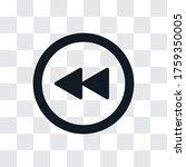 rewind vector icon  simple sign ...