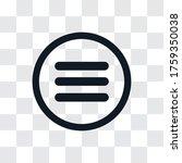 menu vector icon  simple sign...