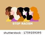 stop racism. black lives... | Shutterstock .eps vector #1759359395