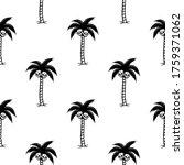 palm tree with skulls black... | Shutterstock .eps vector #1759371062