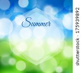 summer background with bokeh.... | Shutterstock .eps vector #175939892