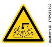 warning hot stream symbol sign  ... | Shutterstock .eps vector #1759399502