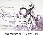 abstract expression figure... | Shutterstock . vector #17594014