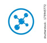 molecule icon  single color... | Shutterstock .eps vector #175945772