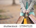 concept of woman shopping and... | Shutterstock . vector #175947125
