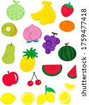 sweet and cute fruit icon set   Shutterstock .eps vector #1759477418