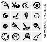 sports vector icons set on gray  | Shutterstock .eps vector #175948886