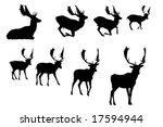buck deer   silhouette  vector... | Shutterstock .eps vector #17594944