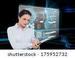 elegant young businesswoman... | Shutterstock . vector #175952732