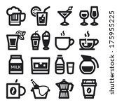 set of black flat icons about... | Shutterstock .eps vector #175955225