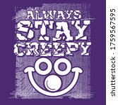 creepy and smiling face... | Shutterstock .eps vector #1759567595