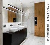 Elegant Bathroom In White...