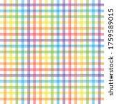 Rainbow Watercolor Checkered...
