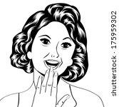 pop art illustration of a...   Shutterstock .eps vector #175959302